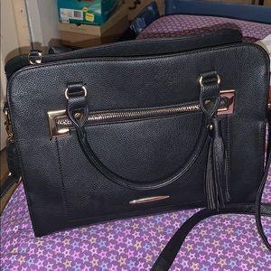 Black purse with strap